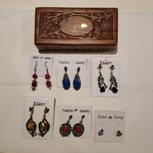 New earrings with wood box